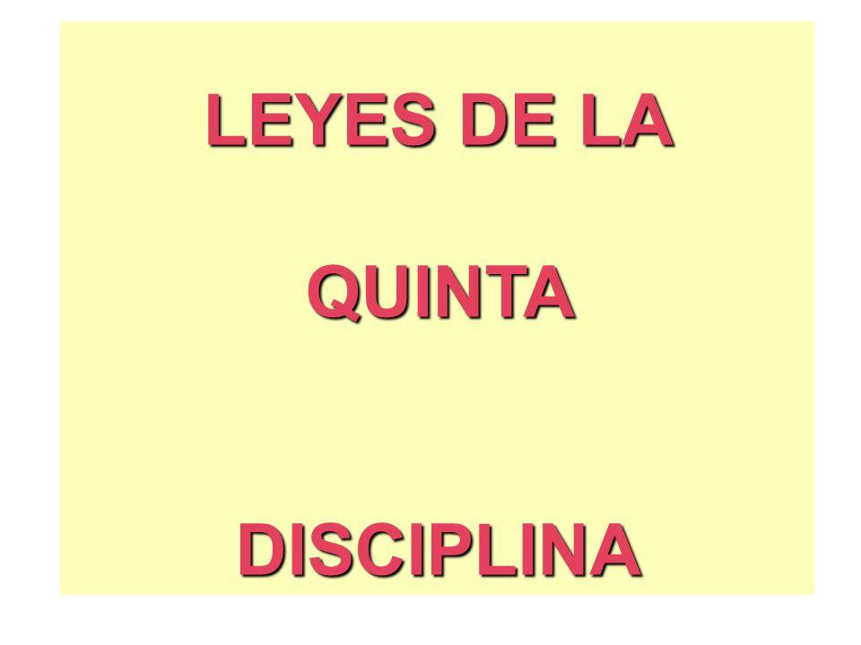 LEYES DE LA QUINTADISCIPLINA