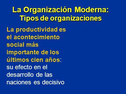 La productividad es el acontecimiento social más importante de los últimos cien años: su efecto en el desarrollo de las naciones es decisivo La Organi
