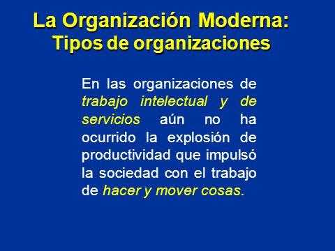En las organizaciones de trabajo intelectual y de servicios aún no ha ocurrido la explosión de productividad que impulsó la sociedad con el trabajo de