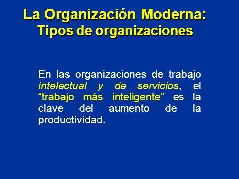 En las organizaciones de trabajo intelectual y de servicios, el trabajo más inteligente es la clave del aumento de la productividad. La Organización M