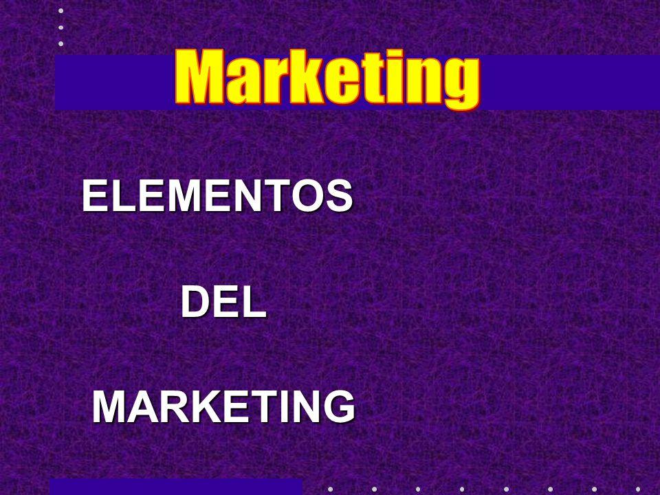 ELEMENTOS DEL DEL MARKETING MARKETING