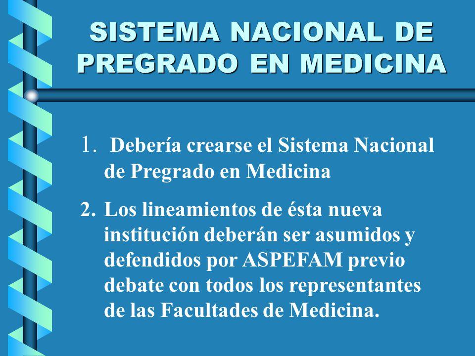 SISTEMA NACIONAL DE PREGRADO EN MEDICINA 1.