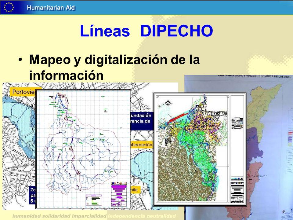 Líneas DIPECHO Mapeo y digitalización de la información