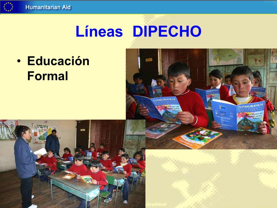 Líneas DIPECHO Educación Formal