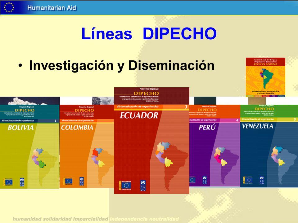 Líneas DIPECHO Investigación y Diseminación