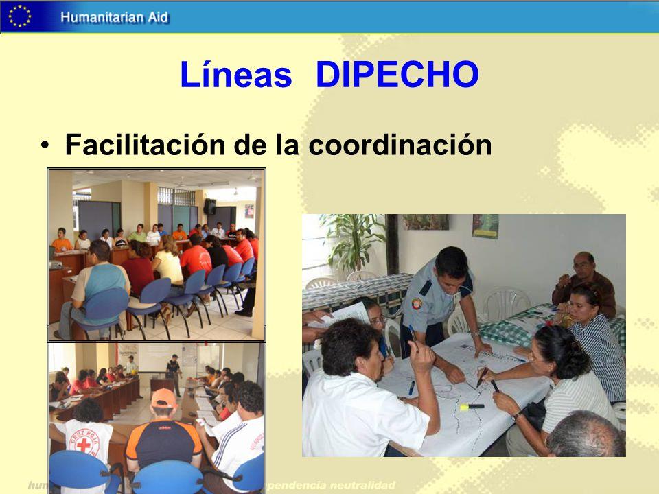Líneas DIPECHO Facilitación de la coordinación