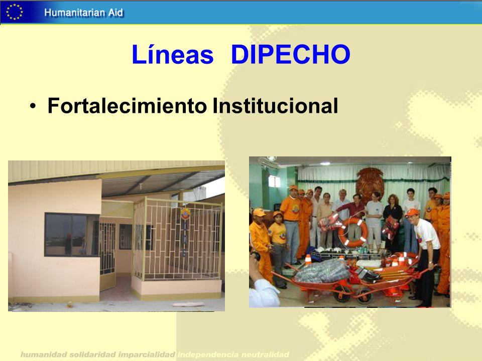 Líneas DIPECHO Fortalecimiento Institucional