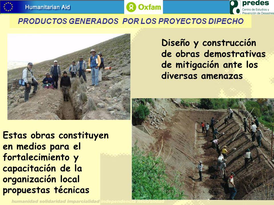 Estas obras constituyen en medios para el fortalecimiento y capacitación de la organización local propuestas técnicas Diseño y construcción de obras d