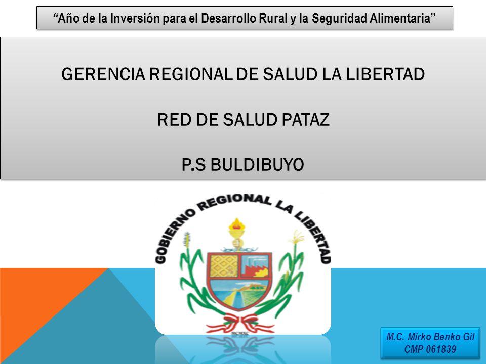GERENCIA REGIONAL DE SALUD LA LIBERTAD RED DE SALUD PATAZ P.S BULDIBUYO GERENCIA REGIONAL DE SALUD LA LIBERTAD RED DE SALUD PATAZ P.S BULDIBUYO Año de