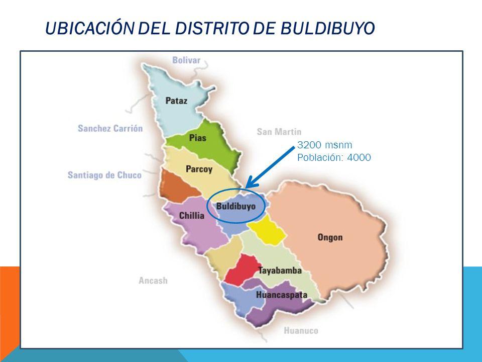UBICACIÓN DEL DISTRITO DE BULDIBUYO 3200 msnm Población: 4000
