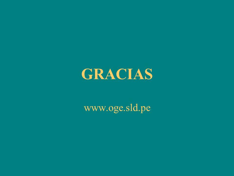 GRACIAS www.oge.sld.pe