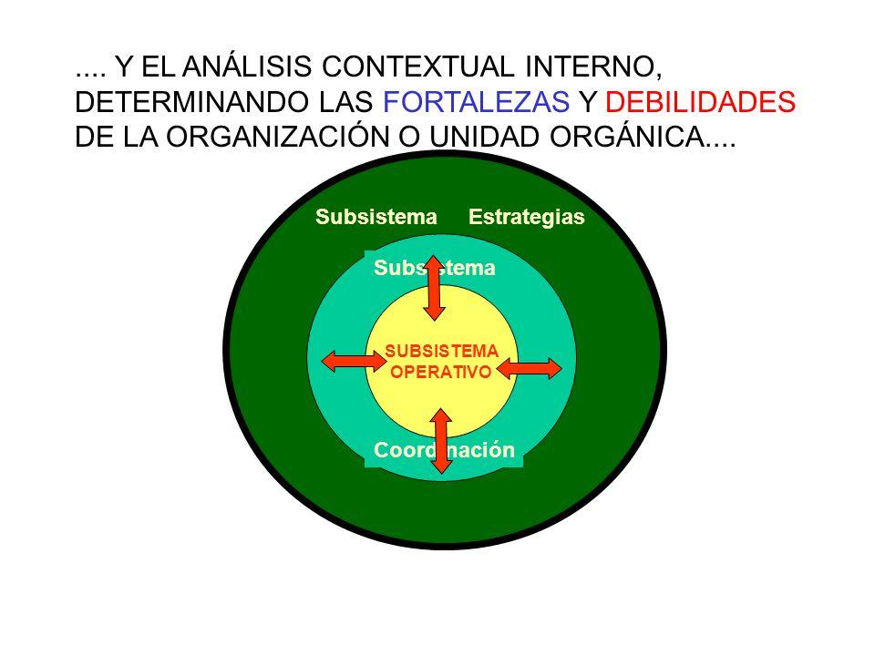 SubsistemaEstrategias Subsistema Coordinación SUBSISTEMA OPERATIVO....