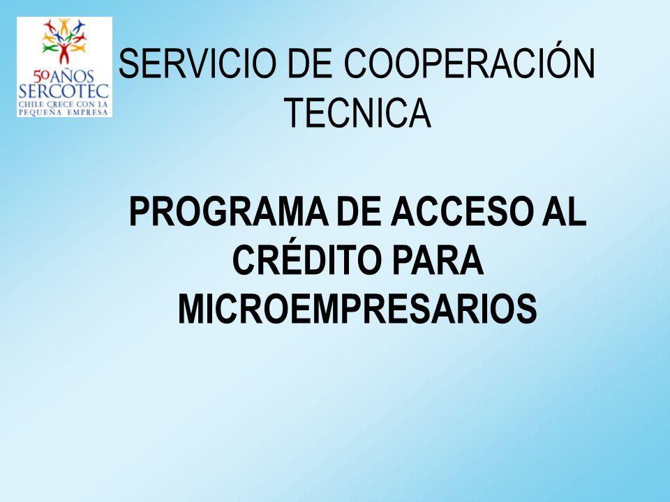 SERVICIO DE COOPERACIÓN TECNICA PROGRAMA DE ACCESO AL CRÉDITO PARA MICROEMPRESARIOS