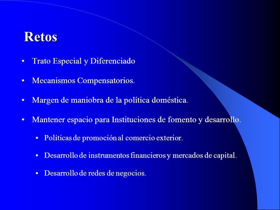 Retos Trato Especial y Diferenciado Mecanismos Compensatorios.