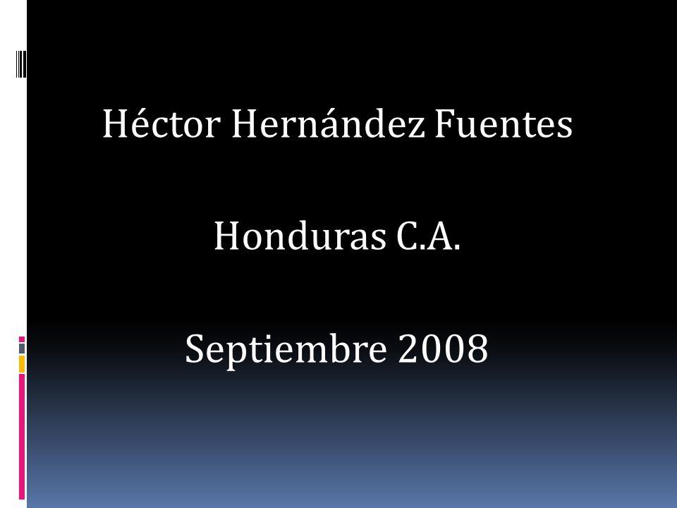 Héctor Hernández Fuentes Honduras C.A. Septiembre 2008