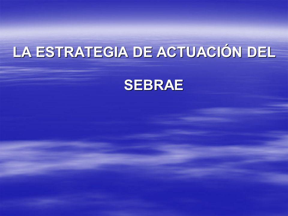 LA ESTRATEGIA DE ACTUACIÓN DEL SEBRAE