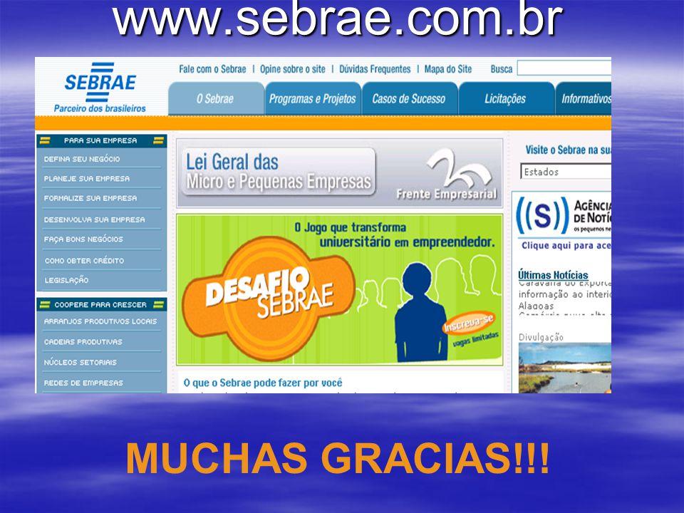 www.sebrae.com.br MUCHAS GRACIAS!!!