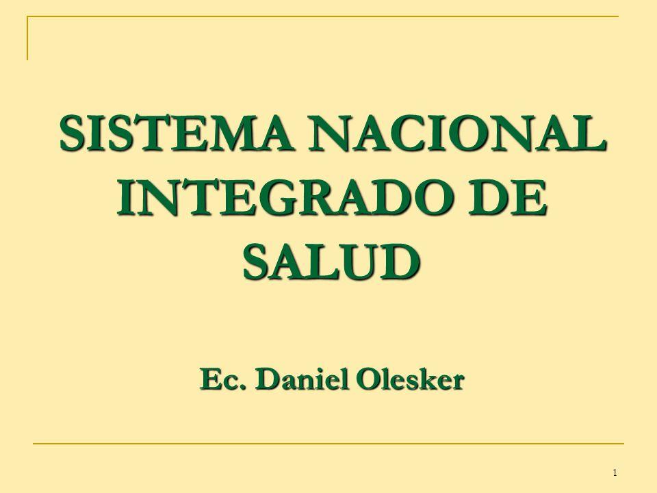 1 SISTEMA NACIONAL INTEGRADO DE SALUD Ec. Daniel Olesker