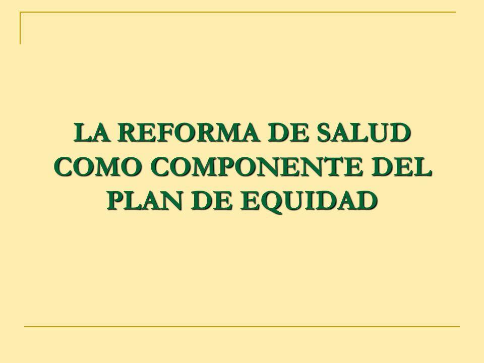 3 Plan de Equidad REFORMAS SOCIALES Y ECONOMICAS ESTRUCTURALES Reforma del Estado.
