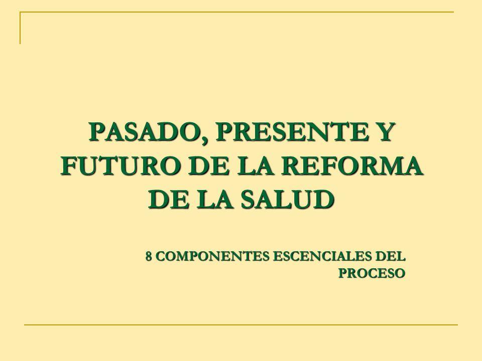 PASADO, PRESENTE Y FUTURO DE LA REFORMA DE LA SALUD 8 COMPONENTES ESCENCIALES DEL PROCESO