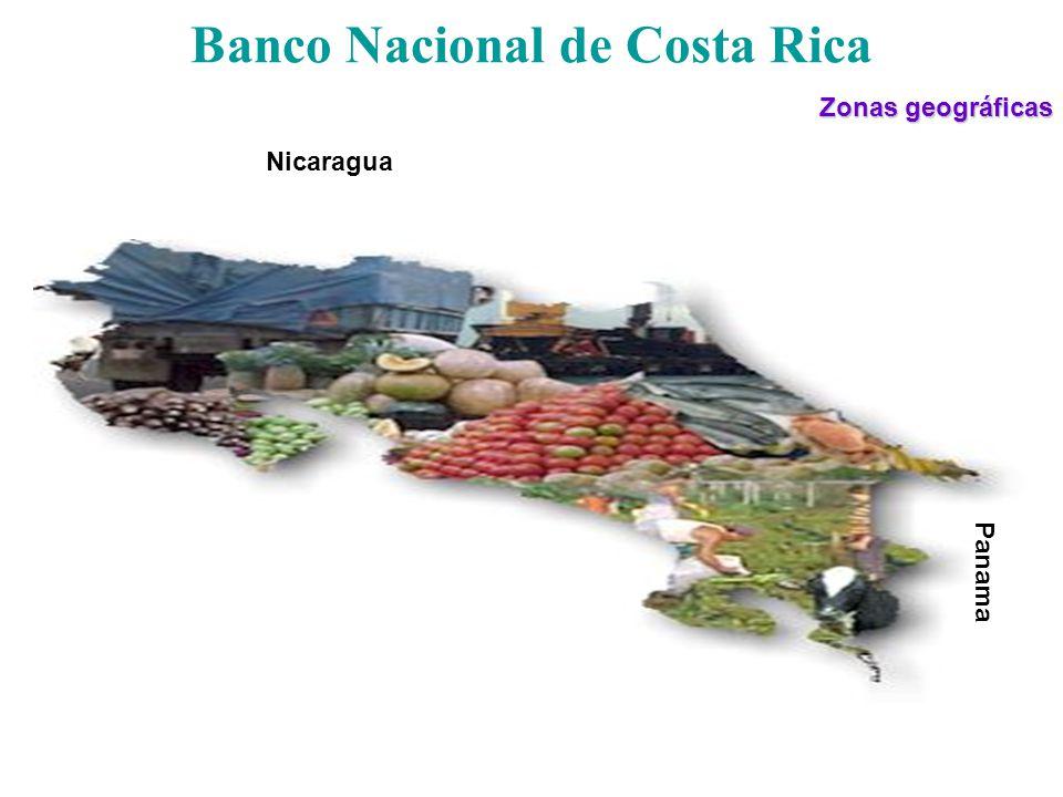 Banco Nacional de Costa Rica Zonas geográficas Nicaragua Panama
