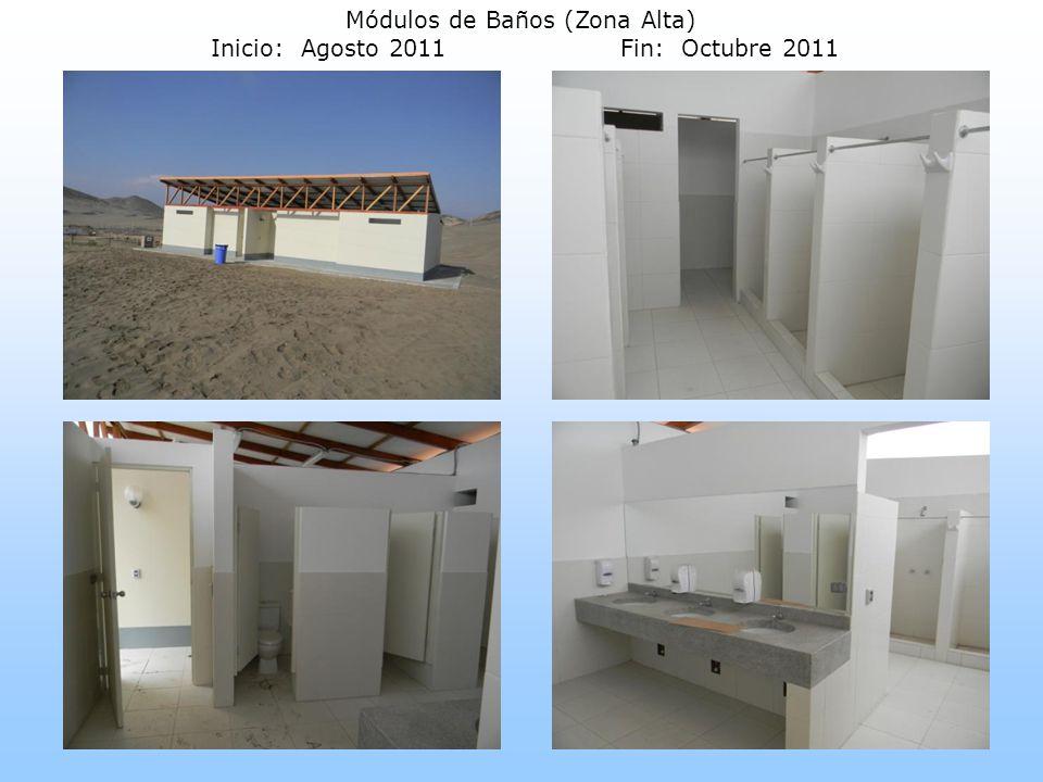 Módulos de Baños (Zona Alta) Inicio: Agosto 2011Fin: Octubre 2011