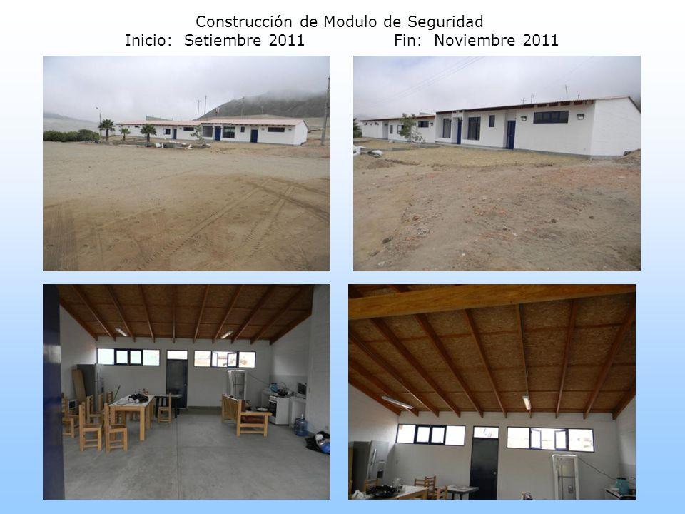 Construcción de Modulo de Seguridad Inicio: Setiembre 2011Fin: Noviembre 2011