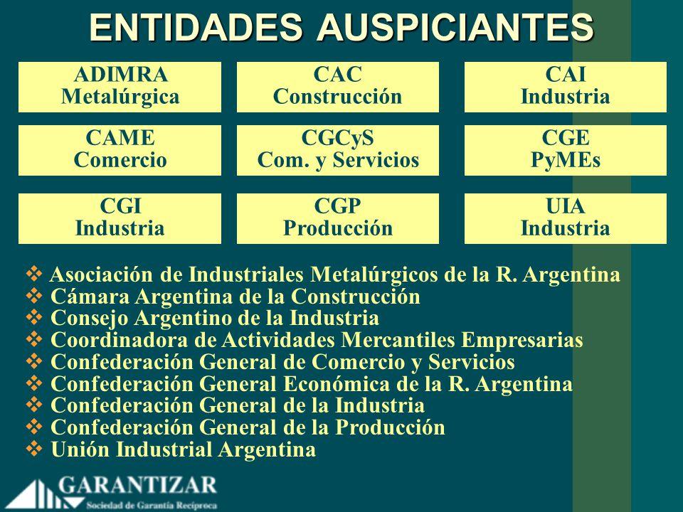 ENTIDADES AUSPICIANTES ADIMRA Metalúrgica Asociación de Industriales Metalúrgicos de la R. Argentina Cámara Argentina de la Construcción Consejo Argen