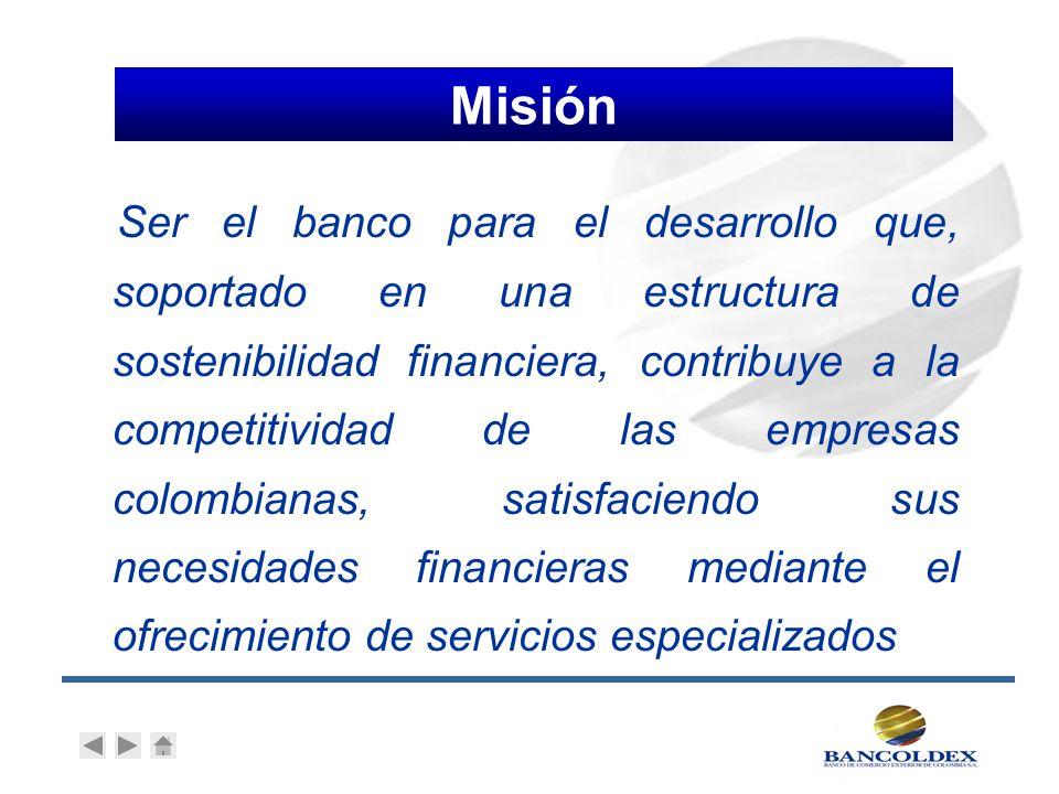 Participación Ministerio de Comercio, Industria y Turismo 89,4% Ministerio de Hacienda 7,6% 7,6% Bancóldex (1) 2,7% 2,7% Otros 0,3% 0,3% Total 100,0% (1)proveniente de la cesión de activos y pasivos financieros del Instituto de Fomento Industrial IFI Regimen laboral y de contratación de derecho privado 1 Nuestros accionistas