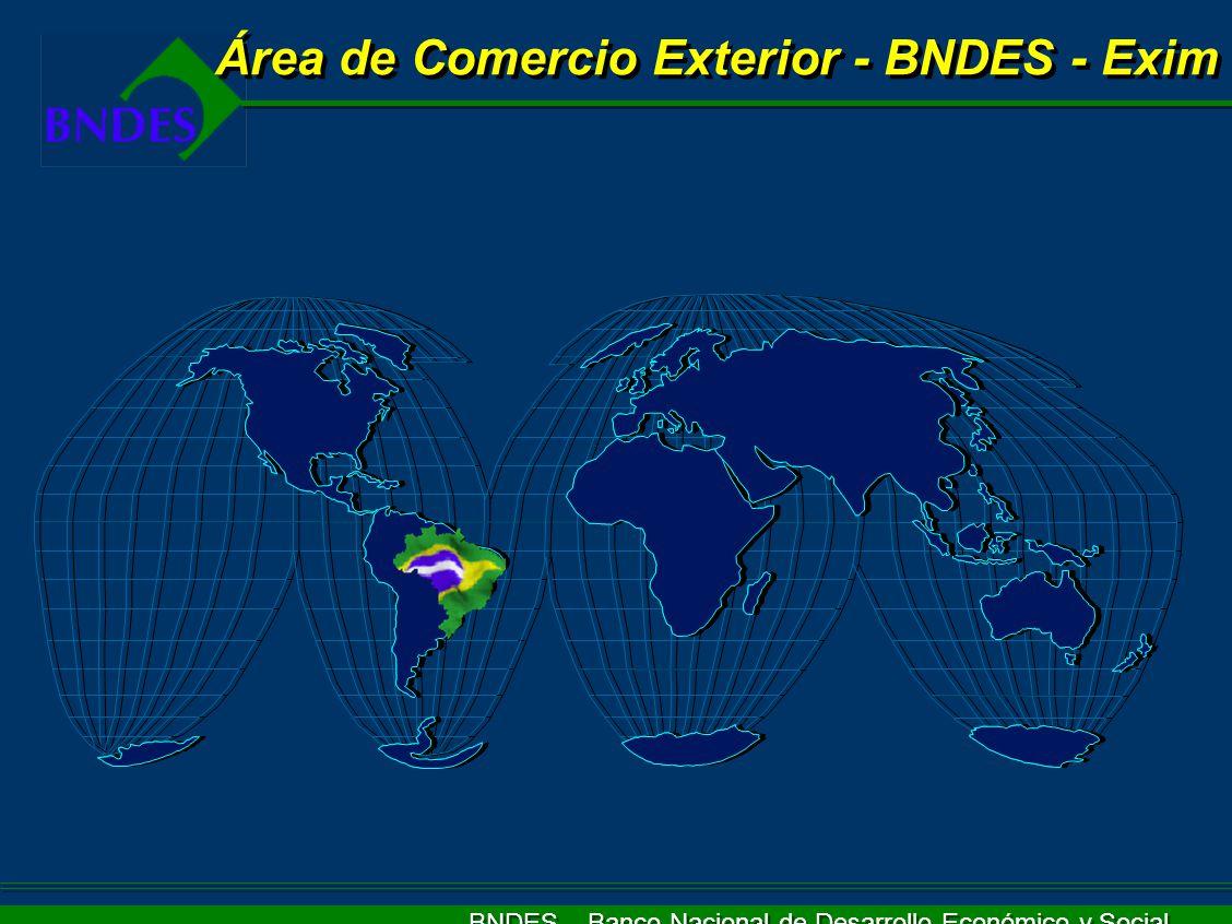 BNDES – Banco Nacional de Desarrollo Económico y Social Área de Comercio Exterior - BNDES - Exim