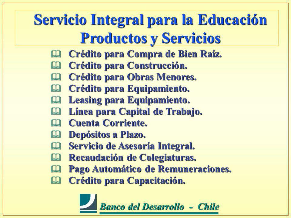 Banco del Desarrollo - Chile Banco del Desarrollo - Chile Crédito para Compra de Bien Raíz.