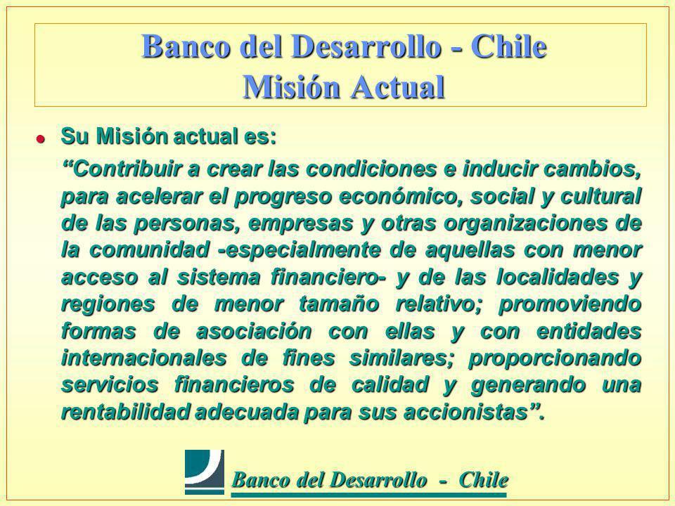 Banco del Desarrollo - Chile Banco del Desarrollo - Chile Banco del Desarrollo - Chile Juntos, desarrollando futuro l Capital y Reservas : US$ 128,04 millones (septiembre 2002).