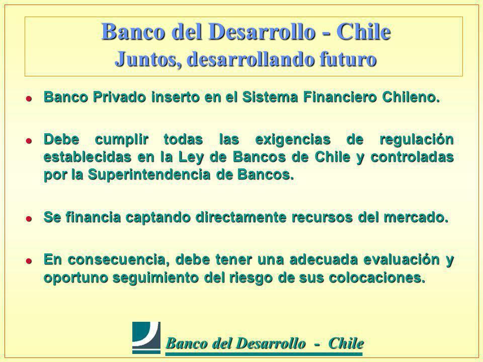 Banco del Desarrollo - Chile Banco del Desarrollo - Chile l Ser líder en la prestación de servicios financieros a la Pequeña y Mediana Empresa (PYME).