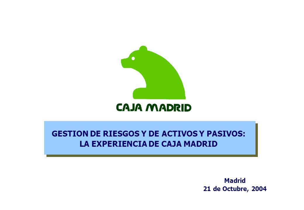 GESTION DE RIESGOS Y DE ACTIVOS Y PASIVOS: LA EXPERIENCIA DE CAJA MADRID Madrid 21 de Octubre, 2004