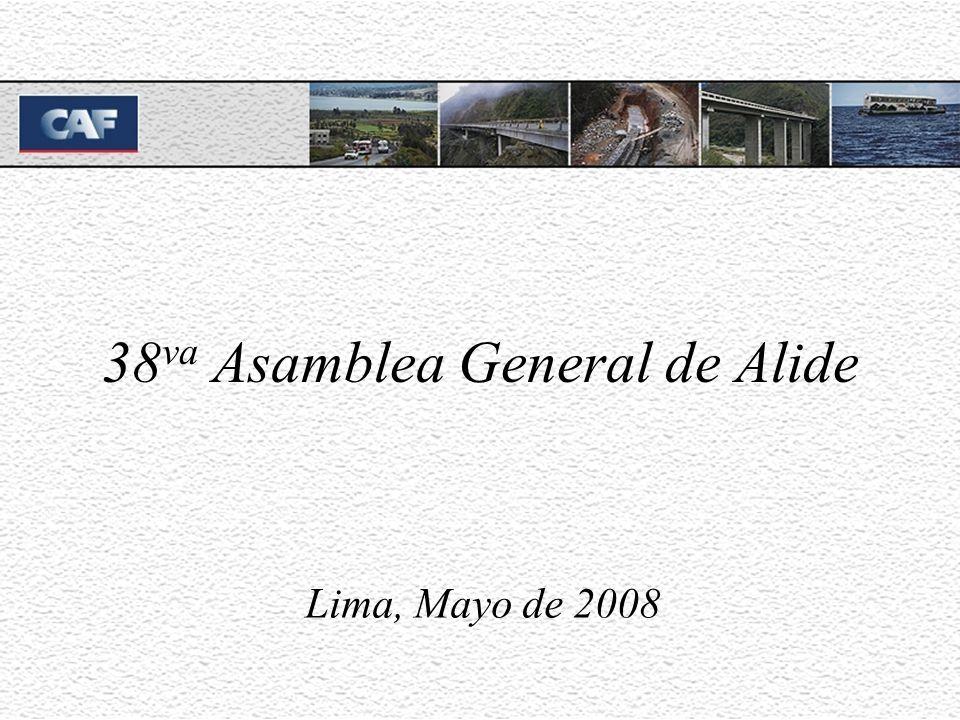 38 va Asamblea General de Alide Lima, Mayo de 2008