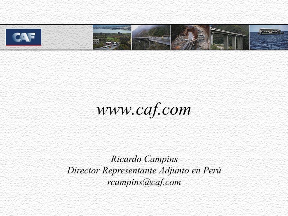 www.caf.com Ricardo Campins Director Representante Adjunto en Perú rcampins@caf.com