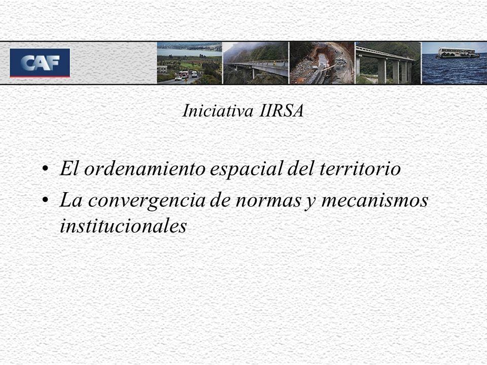Iniciativa IIRSA El ordenamiento espacial del territorio La convergencia de normas y mecanismos institucionales