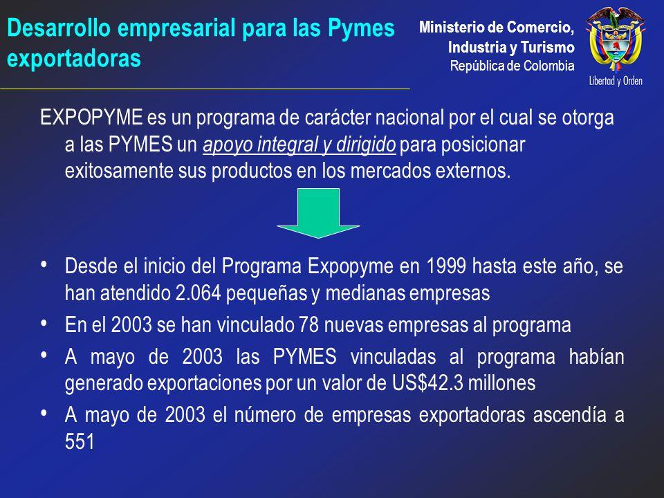 Ministerio de Comercio, Industria y Turismo República de Colombia Certificación de Empresas colombianas con normas internacionales de calidad l Vincul