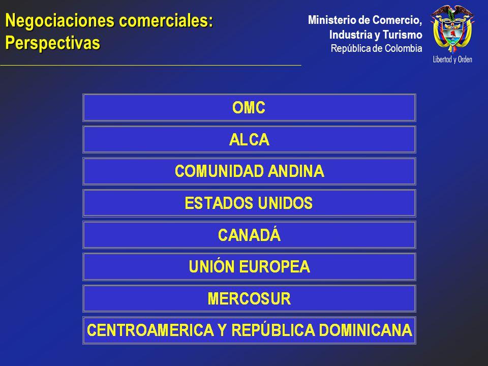 Ministerio de Comercio, Industria y Turismo República de Colombia Unión Política Preferencias Unilaterales Complementación Económica y Alcance Parcial