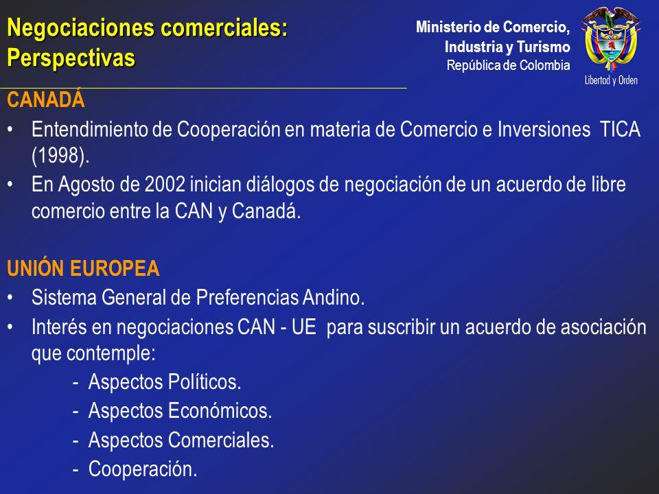 Ministerio de Comercio, Industria y Turismo República de Colombia COMUNIDAD ANDINA Segundo destino de exportaciones Intercambio Intraregional del orde