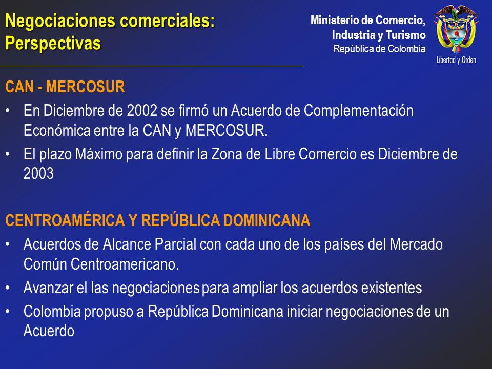 Ministerio de Comercio, Industria y Turismo República de Colombia CANADÁ Entendimiento de Cooperación en materia de Comercio e Inversiones TICA (1998)