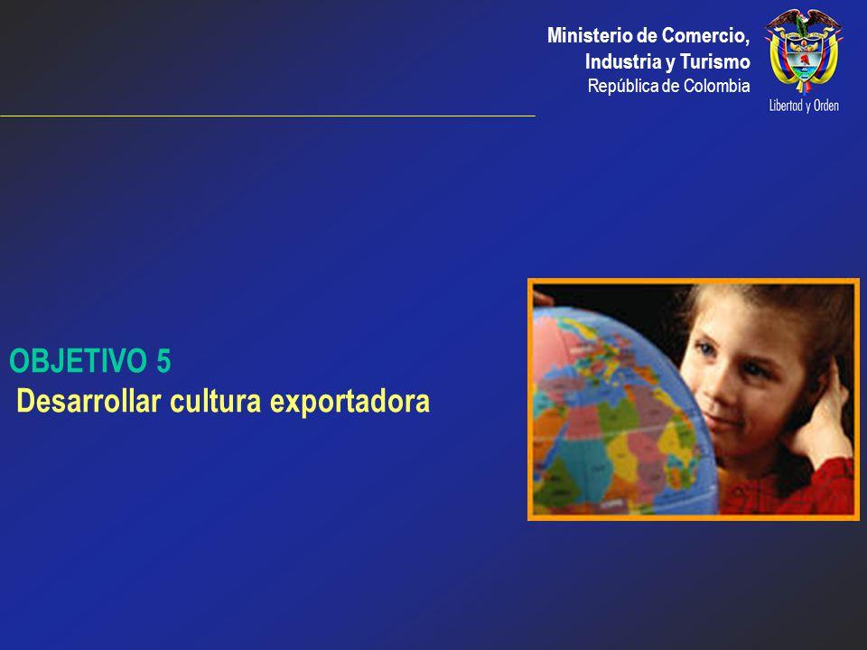 Ministerio de Comercio, Industria y Turismo República de Colombia Proyectos prioritarios 2003: Reclasificación de los CARCEs por nivel de exportacione