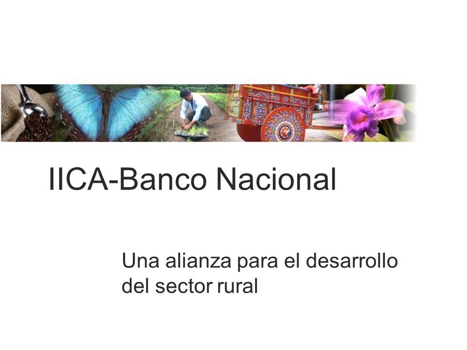 IICA-Banco Nacional Una alianza para el desarrollo del sector rural