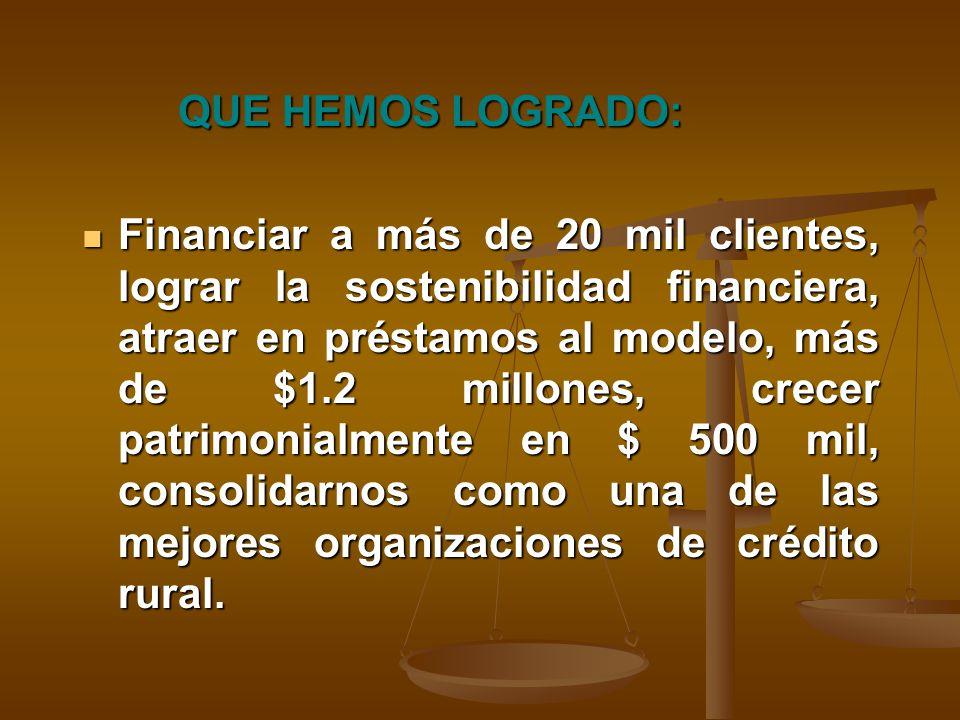 DE DONDE VENIMOS: Desde 1986 con la intervención de CARE Internacional.