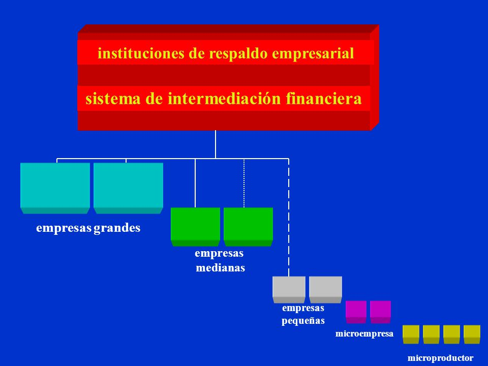 microempresa microproductor sistema de intermediación financiera empresas grandes empresas medianas empresas pequeñas instituciones de respaldo empresarial