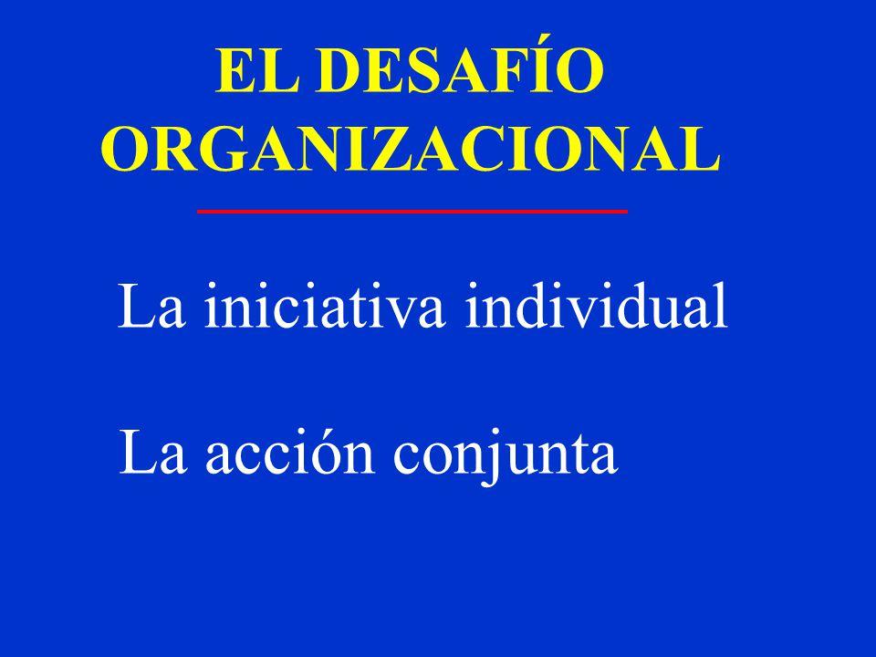 EL DESAFÍO ORGANIZACIONAL La iniciativa individual La acción conjunta