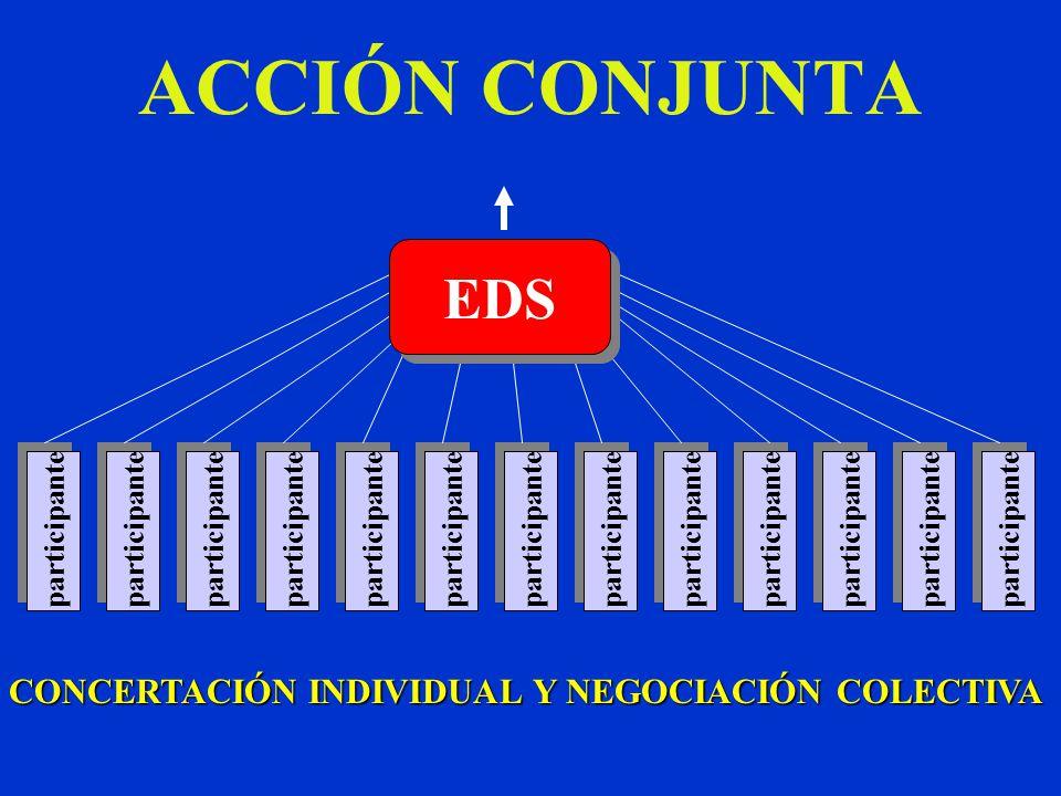 ACCIÓN CONJUNTA participante EDS CONCERTACIÓN INDIVIDUAL Y NEGOCIACIÓN COLECTIVA