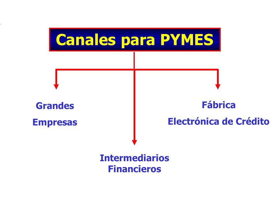 Intermediarios Financieros Grandes Empresas Fábrica Electrónica de Crédito Canales para PYMES