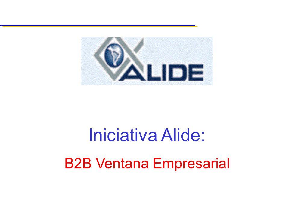 B2B Ventana Empresarial Iniciativa Alide: