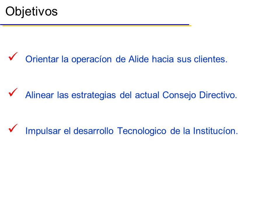 Orientar la operacíon de Alide hacia sus clientes.